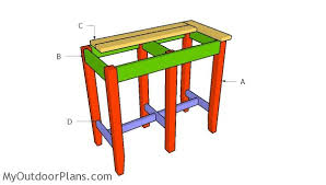 bar stool bench plans myoutdoorplans