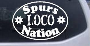 Spurs Loco Nation Oval Car Or Truck Window Decal Sticker Rad Dezigns