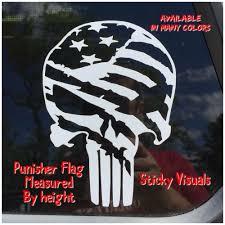 Punisher Skull American Flag Decal Sticker Pick Your Color Vinyl Size American Flag Decal American Flag Sticker Punisher Skull American Flag