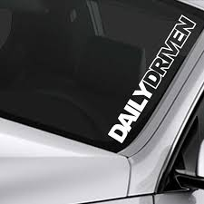 Daily Driven Sticker Lowered Car Truck Funny Window Decal Rear Window Car Sticker Car Stickers Aliexpress