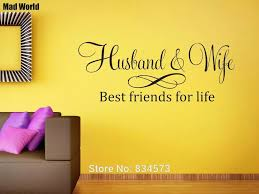Husband And Wife Best Friends For Life Wall Art Stickers Wall Decals Home Diy Decoration Removable Room Decor Wall Stickers Wall Stickers Aliexpress