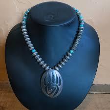 1960s hopi sterling bear claw pendant
