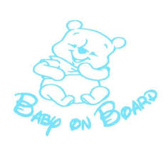 Winnie The Pooh Baby On Board Decal Baby On Board Sticker Etsy