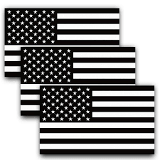 Anley 0 46 Ft X 0 25 Ft Reflective Subdued American Flag Decal Patriotic Monochrome Stripe Tactical Car Stickers 3 Pack A Flag Decal Us Black The Home Depot