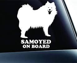 Amazon Com Samoyed On Board Dog Symbol Decal Paw Print Dog Puppy Pet Family Breed Love Car Truck Sticker Window White Automotive