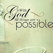 Christian Vinyl Wall Art Decor With God All Things Are Possible