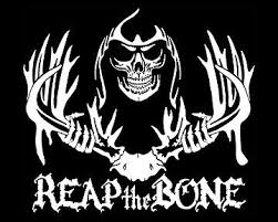 Whitetail Deer Hunting Window Decal Reap The Bone Reaper Skull