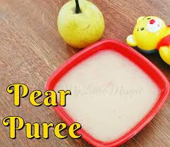 pear puree recipe my little moppet