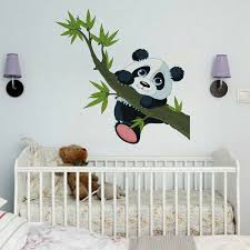 Zoo Animal Panda Tree Birds Kids Room Decor Baby Room Decals Wall Sticker For Sale Online Ebay