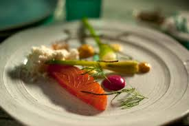 Cured salmon, salt and vinegar jelly ...