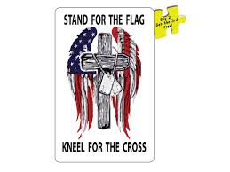 Stand For The Flag Kneel For The Cross Decal Sticker 5 5 Etsy
