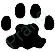 6pk Cat Paw Print Vinyl Sticker Decal Ebay