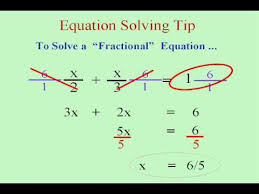 solving fractional equations you