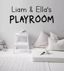 Playroom Wall Decal Personalized Playroom Decal Kids Name Etsy