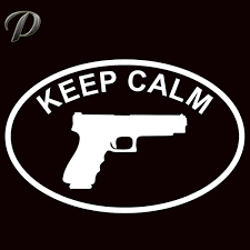 Keep Calm And Carry Large Vinyl Window Decal Sticker Nra Pro 2nd Gun Pistol Decal Sticker Window Decalsvinyl Decals Stickers Aliexpress