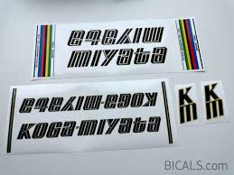 Koga Miyata V1 Bicals Bicycle Decals Shop For Bicycle Decals Stickers And Amblems