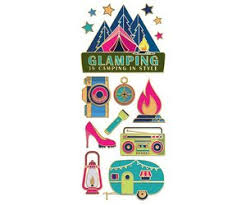 Glamping Enamel Stickers Bee Bee Designs Summer Camp Headquarters