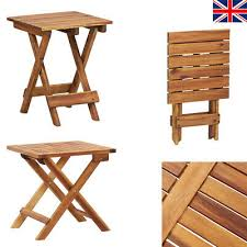 folding coffee side table acacia wood