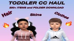 sims 4 toddler cc haul folder