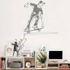 New Design Vinyl Wall Sticker Skateboard Boy Room Decals Skateboard Ride Kids Bedroom Cool Mural Decor Removable Wallpaper Lc159 Removable Wallpaper Vinyl Wall Stickersdesigner Wall Stickers Aliexpress