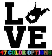 Vinyl Decal Truck Car Sticker Laptop Home State Outline Love Map West Virginia Ebay