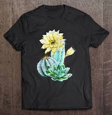 retro cactus flower plant shirt quotes