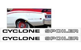 Graphic Express 1969 Mercury Cyclone Spoiler Body Lettering Decal Set
