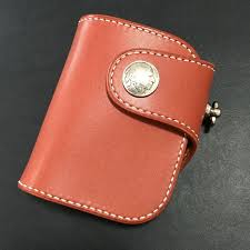 handmade leather biker wallet mens cool