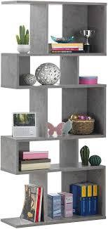 Amazon Com Giantex Freestanding Ladder Bookcase 5 Cubes Corner Storage Bookshelf 5 Layer Shelves Closet Organizer Rack Display Cabinet Gray Furniture Decor