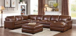 top grain leather match sectional sofa