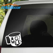 Go Wild Cup Car Decals High Quality Adhesive Vinyl Waterproof Window Decal Car Sticker Nature Travel Mug L685 Car Stickers Aliexpress