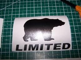 Jeep Wrangler Black Bear Jk Unlimited Decal Sport Rubicon Jk