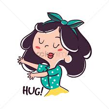 cartoon gesturing for hug vector