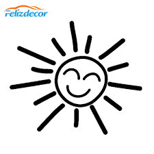 12 10cm Sun Vinyl Car Decal Cut Decals Laptop Truck Cars Bumper Smiley Face Sticker White Black L839 Car Stickers Aliexpress