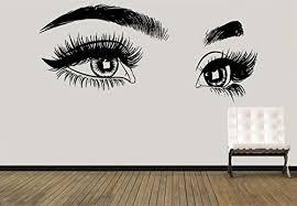 Amazon Com Eyelashes Decal Eyelashes Eye Wall Decal Eyelashes Eye Wall Sticker Girls Eyes Eyebrows Wall Decor Beauty Salon Decal Make Up Wall Decor Kau389 Handmade