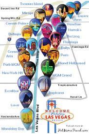 las vegas strip hotel map a unique map