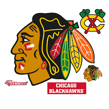 Fathead 38 In H X 45 In W Chicago Blackhawks Logo Wall Mural 64 64314 The Home Depot