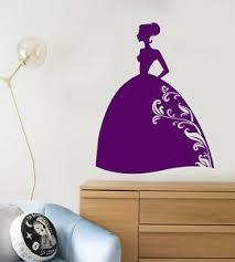 Vinyl Wall Decal Cartoon Silhouette Princess Fairy Tale Girl Room Sticker 2685ig Ebay