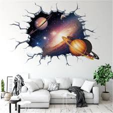 3d Creative Universe Galaxy Floor Wall Stickers For Kids Baby Room Decorative Sticker Boy Bedroom Ceiling Art Decal Mural Muraux Wall Stickers Aliexpress