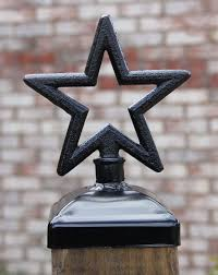 Cast Iron Star Post Cap For 4x4 Wood Post Wrought Iron Fence Mailbox Post Cap Fence Post Caps Post Cap Wrought Iron Fences