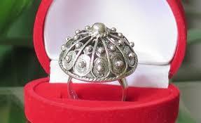 vial croatian sterlin silver ring