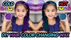 diy thermal color changing hair wax