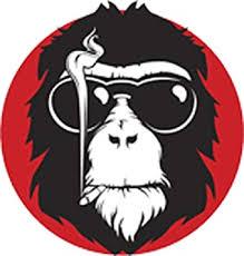 Amazon Com Cool Smoking Monkey Cartoon Icon Vinyl Decal Sticker 4 Tall Arts Crafts Sewing