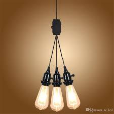 eu uk au plug 3 head e27 pendant light