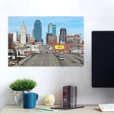 Kansas City Amazing Skyline Wall Decals Peel Stick Re Movable Wall Art Zapwalls
