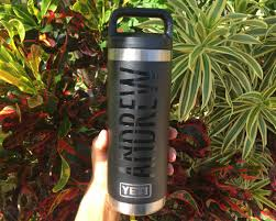 Personalized Vinyl Decal For Yeti Duracoat Water Bottle Initially Yours