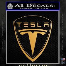 Tesla Motors Emblem Decal Sticker A1 Decals