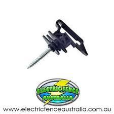 Nemtek 25 X Wood Post Screw In Tape Insulator Electric Fence Australia