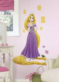 Tangled Rapunzel Glow In The Dark Giant Peel Stick Wall Decal Walldecals Com