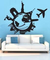 Vinyl Wall Decal Sticker Travel The World 1206 Stickerbrand